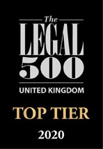 Legal 500 Top Tier 2020